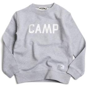 [キャンプフリー] CAMPFREE ジュニア・キッズ CAMP ロゴ スウェット トレーナー M.H.A.style 10068 A.グレー