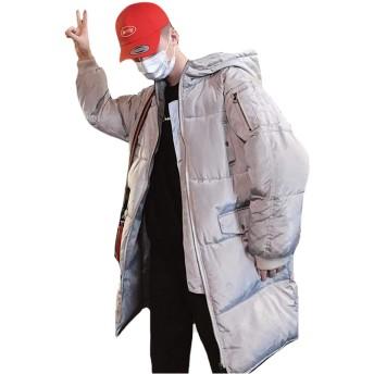 PIITE メンズ アウター 綿服 ロングコート ダウンジャケット ゆったり 冬服 防寒着 男性用 ジャケット 綿入れ 暖かい ブルゾン コート ロング 細身 ジャケット 長袖 アウトドアグレー9