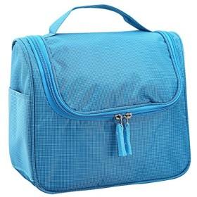 [db]トラベルポーチ 洗面具 メイク 入れ バスルームポーチ フック付き 旅行用化粧バッグ 小物収納ケース(シューズ袋 1枚付き) ブルー