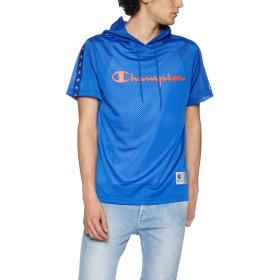 [チャンピオン] メッシュパーカーTシャツ バスケットボール C3-PB346 メンズ ブルー 日本 M (日本サイズM相当)