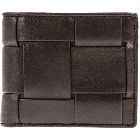 ギオネ 二つ折り財布 PG201B ブラウン ラム革(ビッグ模様)
