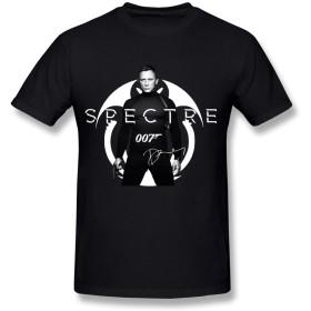 プライベートカスタム 成人 007 スペクター ジェームズ・ボンド シャツ 体に合う ブラック Size L