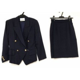 ボッシュ BOSCH スカートスーツ サイズM レディース 美品 ネイビー 肩パッド【中古】20190713