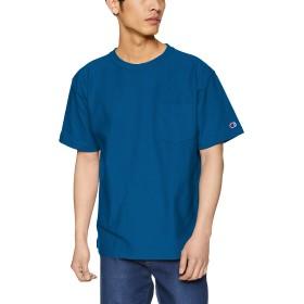 [チャンピオン] リバースウィーブ ポケットTシャツ C3-P318 メンズ ディープブルー 日本 M (日本サイズM相当)