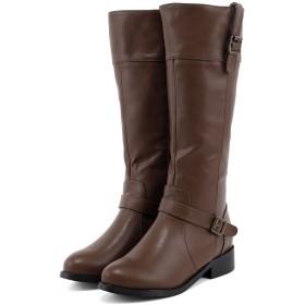 [フェリシア フェリーチェ] ベルト付きジョッキーブーツ 24.0cm ブラウン茶色