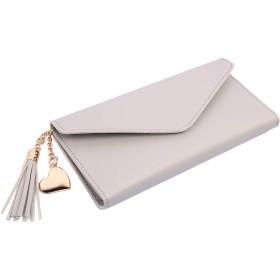 財布 レディース 長財布 シンプル タッセル エレガント かわいい 大容量 多機能 小銭入れ 多色オプション