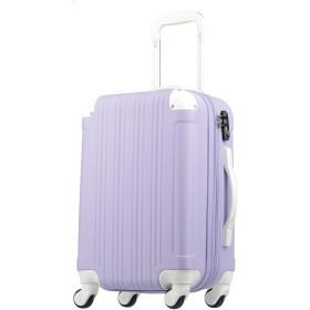 拡張ジッパースーツケース TSAロック 33リットル ラベンダー/ホワイト