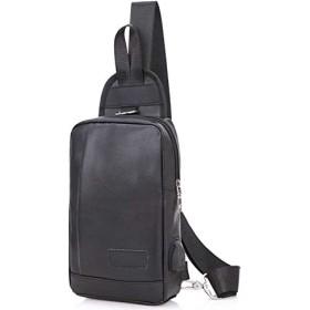 (アーケード) ARCADE バッグで携帯充電 USBポート搭載 ケーブル付 ショルダーバッグ メンズ ボディーバッグ 【Fタイプ】ブラック