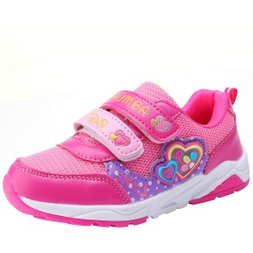 [snofiy] スニーカー 女の子 キッズ 運動靴 子供靴 スポーツ 軽量 可愛い 歩きやすい メッシュタイプ 通学靴 お出かけ