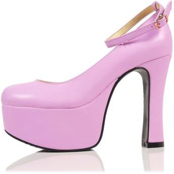 [JOYBANK] パンプス 12cmヒール 厚底 プラットフォーム コスプレ レディース 靴 Lサイズ ラベンダー