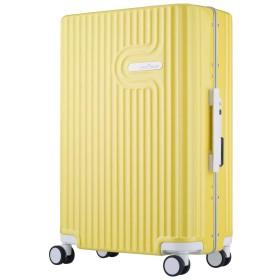 [アウトレット]パステルキャリーケース 細フレーム LYRA(リラ) 60cm グレー B-5105-60 Mサイズ 中型 旅行鞄 スーツケース キャリー トランクケース イエロー