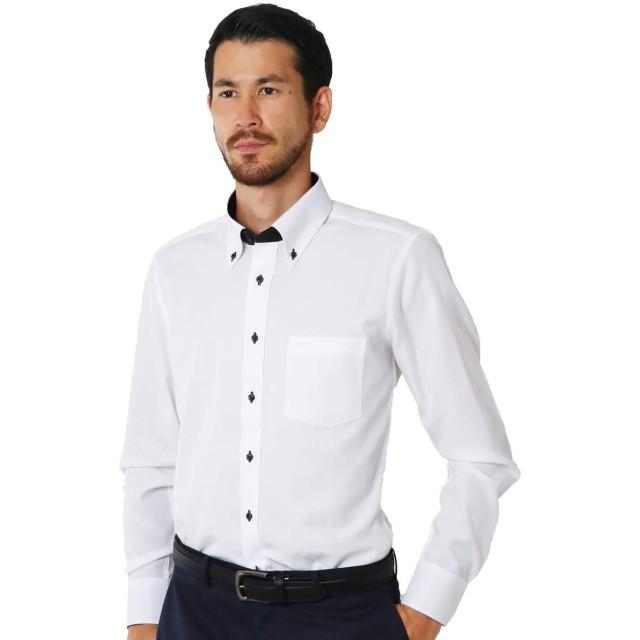 ワイシャツ 長袖 形態安定 ボタンダウン 3L(84)ノーマル DB1302 / sb-3l-84-db1302