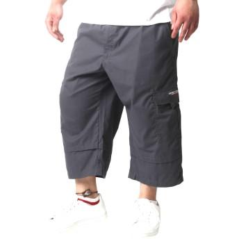 [コスビー] 大きいサイズ メンズ カーゴ 7分丈 ショートパンツ チャコール 3L