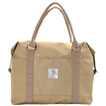 [Xnwe] トラベルバッグ ボストンバッグ トートバッグ キャリーオンバッグ 旅行バッグ 大容量旅行用バッスーツケースの持ち手に通せる (カーキ)