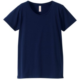 (ルッカ) rucca 着心地さらさら レディース 半袖 無地 Tシャツ ネイビー L