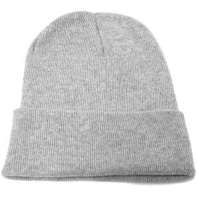 ハッピーハット 帽子:ニット MUJI コットン100% knit-1237-22 ライトグレー