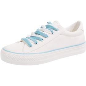 [HUIYA] 春と秋の新しい単色の靴女性の靴白い靴文学の麻の葉野生の通気性のキャンバスの靴ホワイトカジュアルキャンバススニーカーシューズ