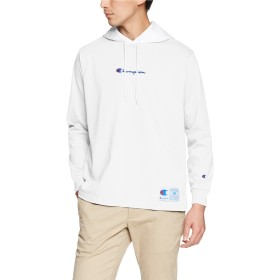 [チャンピオン] ロングスリーブフードTシャツ C3-M414 メンズ ホワイト 日本 M (日本サイズM相当)