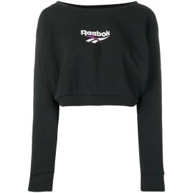 Reebok ロゴ クロップド スウェットシャツ - ブラック