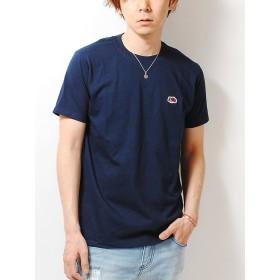 フルーツオブザルーム (FRUIT OF THE LOOM) ワッペン ロゴ Tシャツ (L, ネイビー)
