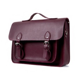 THE ACTION Satchel, Briefcase サッチェルバッグ 3wayリュック ショルダーバッグ ハンドバッグ スクエアバッグ スクールバッグ書類かばん(No.CP016)[並行輸入品] (ワイン)