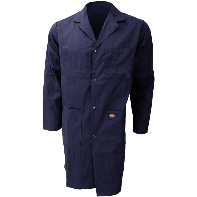 (ディッキーズ) Dickies メンズ レッドホーク ウェアハウスコート 作業服コート 作業用ジャケット ワークウェア ユニフォームアウター 制服上着 コート オーバー 男性用 定番 (S) (ネイビー)