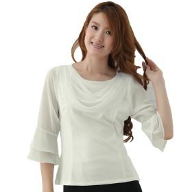 (ウイング) WING コーラス衣装 ブラウス 演奏会 ステージ パーティー カラオケ衣装 レディース ダンスウェア 衣装 白 オフ白あり Mサイズ Lサイズ LLサイズ 選べるサイズ (サイズ・色は変えてください) (CU31096) (L, オフ白)