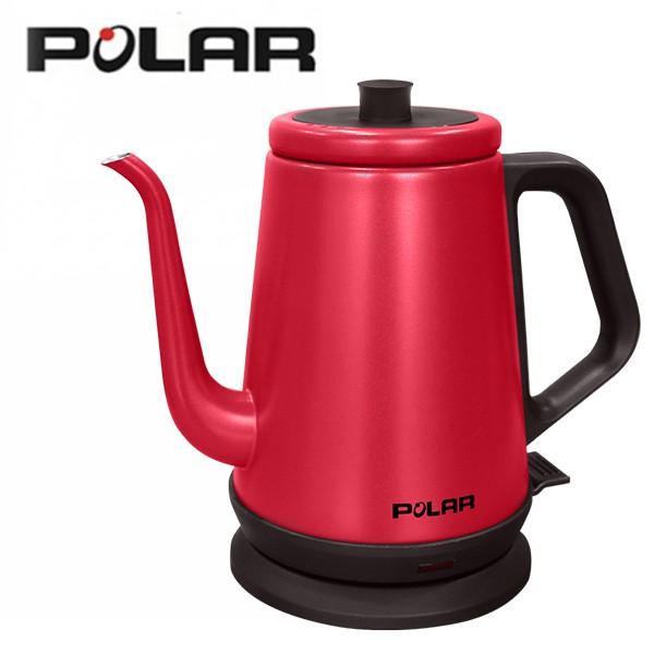 POLAR普樂 0.8L 經典 不鏽鋼 電茶壺 (紅) PL-1727