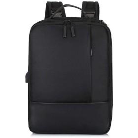 Bostar デイパック 超大容量 USB充電ポート付 盗難防止 防水 軽量 単肩・双肩・手提げ ビジネスバッグ パソコン タブレット ブラック