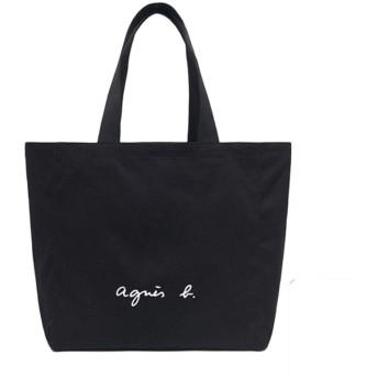 agnes b. VOYAGE アニエスベー ボヤージュ コットントートバッグ キャンパスバッグ レディース メンズ バッグ (ブラック)