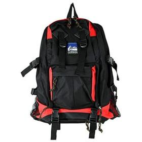 リュックサック リュック 多機能デイバッグ 9822 カーキ 登山リュック 遠足 旅行用 防災 災害 (レッド)