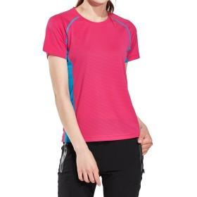 Mr.Streamレディース アウトドア スポーツ トレッキング登山吸汗速乾通気性UVカット半袖Tシャツ2X-Large Red