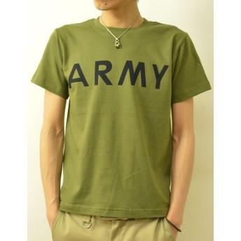 (ジーンズバグ)JEANSBUG ARMY オリジナル アーミー ミリタリー プリント 半袖 Tシャツ メンズ レディース 大きいサイズ ST-ARMY XL シティグリーン(35)
