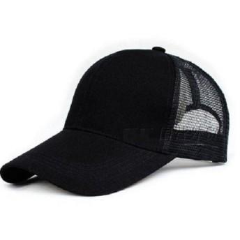 【セット】帽子 メッシュ キャップ 大きいサイズ XL 60㎝ 61㎝ 62㎝ 人気cap アウトドア 父の日 ブラック 黒 /A78 (XL(60-62CM))
