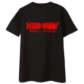 NCT 127 Tシャツ NEO CITY: SEOUL- ラウンドネック 半袖 人気韓流グッズ 大きいサイズ おしゃれ 通勤 通学 運動夏服 男女兼用 超カコイイ-ブラック-M