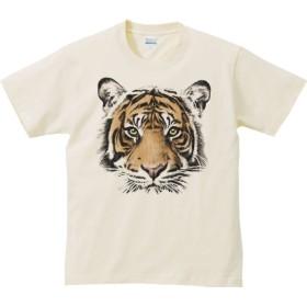 エムワイディエス(MYDS) 虎の顔/半袖Tシャツ/ライトベージュ/Mサイズ