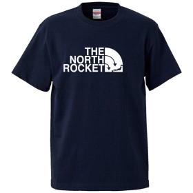 (ザ・ノース・ロケット)THE NORTH ROCKET 5.6oz(オンス)半袖Tシャツ XXXL ネイビー ロゴ大
