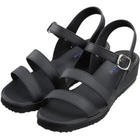 ナースシューズ 靴 フジゴム 759 二本線サンダル 21.0~26.0cm (26.0cm, ブラック)