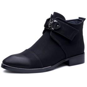 Sufoen 6cmアップ シークレットシューズ メンズ シークレットブーツ 履くだけで背が高くなる靴 メンズブーツ ワークブーツ 黒 (26.5CM, ブラック)