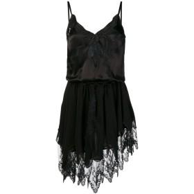 Saint Laurent アシンメトリー ドレス - ブラック