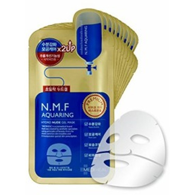 MEDIHEAL メディヒール NMF アクアリング ヌード ゲルマスク (10枚) [Mediheal premium NMF AQUARING H