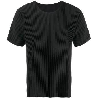 Homme Plissé Issey Miyake プリーツ Tシャツ - ブラック