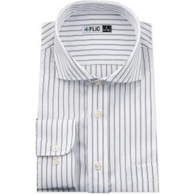 [ワイシャツ専門店 FLiC] 長袖ワイシャツ ワイドカラー GH1508 M(80)スリム/nh-sm-80-gh1508
