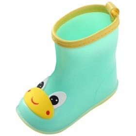 [Y-BOA] キッズ 長靴 レインブーツ レインシューズ 雨靴 動物 キャラクター かわいい 幼児 小学生 子供 女の子 男の子 防水 滑り止め 梅雨対策 通園 通学 カエル 14.5cm