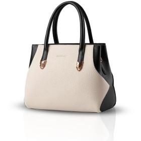 NICOLE&DORIS 新しいファッションショルダーバッグ斜めかけバッグレディース バッグ ハンドバッグ ショルダー 手提げ 2way 通勤 通学 シンプル防水高品質なPU 白