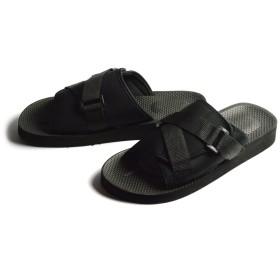 (ホヌサーフ) HONU SURF サンダル メンズ コンフォートサンダル スポーツサンダル アウトドア カジュアル ビーチサンダル マジックテープ 通気性 軽量 靴 M(25cm-25.5cm相当) 5560[Black]