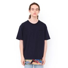 (グラニフ) graniph フェイクレイヤード Tシャツ カモフラワー (ネイビー) メンズ レディース SS (g01) (g14) #▲