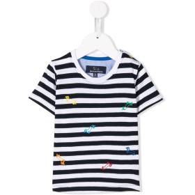Harmont & Blaine Junior ストライプ Tシャツ - ブルー