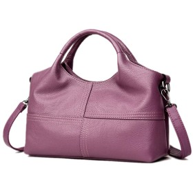 ファッション女性ソフトハンドバッグレディースバッグショルダーバッグクロスボディバッグ財布 (色 : Purple)