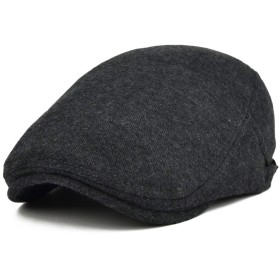 Echana ハンチング帽 ベレー帽 キャスケット キャップ 無地 通気性 メンズ レディース 春夏 ゴルフ 旅行 バイク 釣り 帽子 男女兼用 55-60cm (ダークグレー)